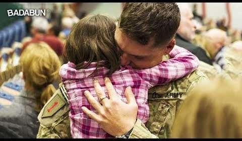 10 soldados vuelven a ver a la familia tras años de servicio. Así fueron sus reencuentros