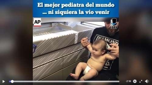 Así pone inyecciones el mejor pediatra del mundo