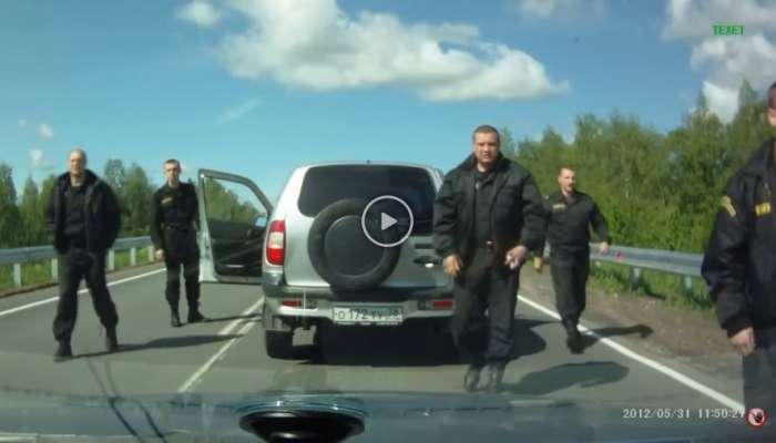 Cuidado con a quién pitas en Rusia cuando vayas conduciendo