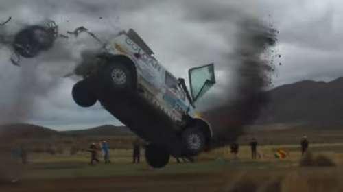 Espectacular accidente del piloto argentino Juan Manuel Silva en el Dakar 2015