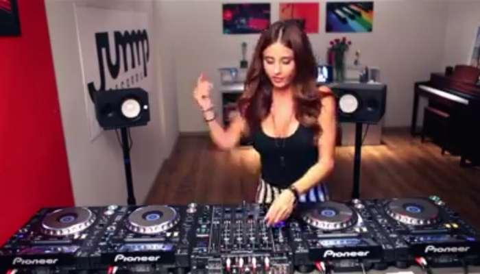 Esta chica hace una sesión de DJ impresionante
