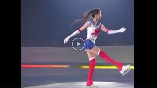 La patinadora rusa Evgenia Medvedeva sorprende a todos con su numero recreando la serie de anime Sailor Moon