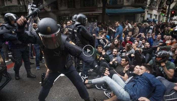 Los vídeos más impactantes de las cargas policiales del 1-O en Cataluña