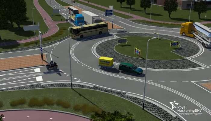 Rotonda Turbo Holandesa una rotonda diseñada para evitar accidentes