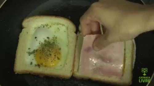 Seguro que no conocías esta forma de hacer sandwich mixto con huevo