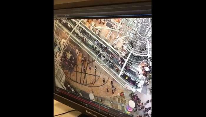 Sobrecogedor vídeo de una escalera mecánica que se viene abajo arrastrando a todos