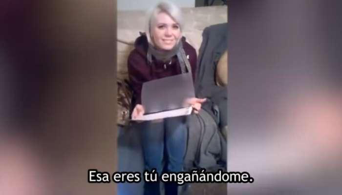 Sorprende a su novia enseñandole fotos de ella con su amante el dia de San Valentin