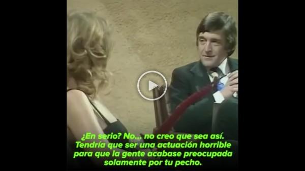 Tremendo zasca de la actriz Helen Mirren en 1975 a un presentador machista
