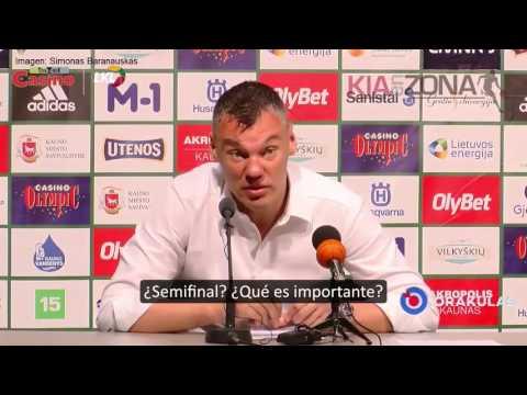 Tremendo zasca del entrenador lituano Jasikevicius a un periodista por recriminarle que dejase a un jugador ver el nacimiento de su hijo