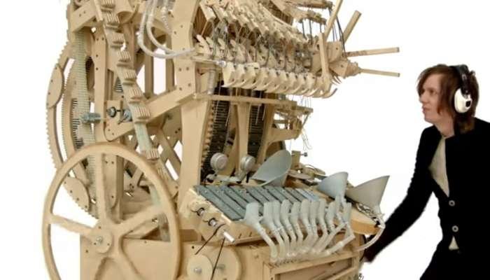 Un instrumento musical que funciona con... canicas