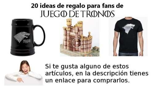 ideas de regalo para fans de juego de tronos